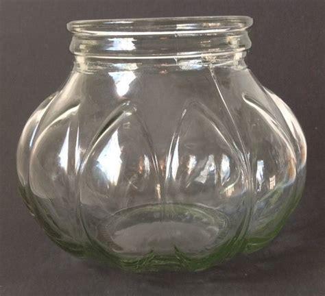 large glass jars large glass apothecary jar hoosier cabinet canister pumpkin shaped no lid vtg ebay