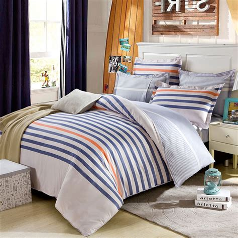 orange and white bedding lovely blue white and orange cotton bedding set