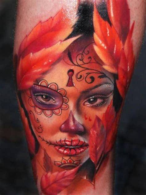 sugar face tattoo designs mexican tattoos day of the dead lifestyles ideas