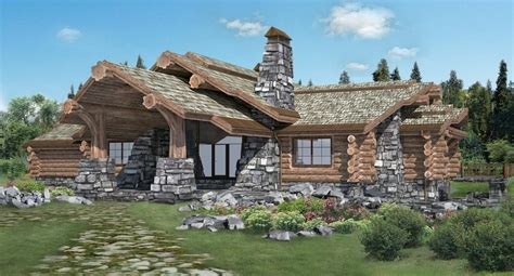 Handcrafted Log Home - handcrafted log homes cabins canadian log homes chalet