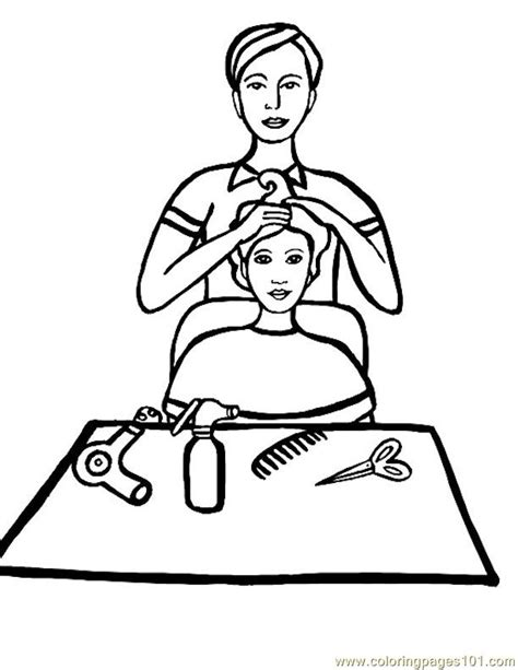hairdresser coloring pages natural hair salons coloring pages
