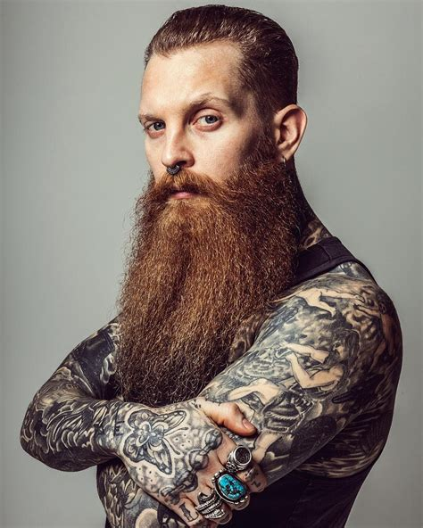 tattoos and beards jake hurn thick beard mustache beards