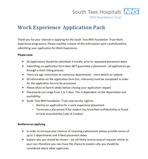 How To List Work Experience On Application How To Apply South Tees Institute Lri