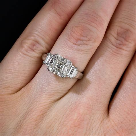Asscher Cut Engagement Rings by 3 20 Carat Asscher Cut Engagement Ring G Vs2