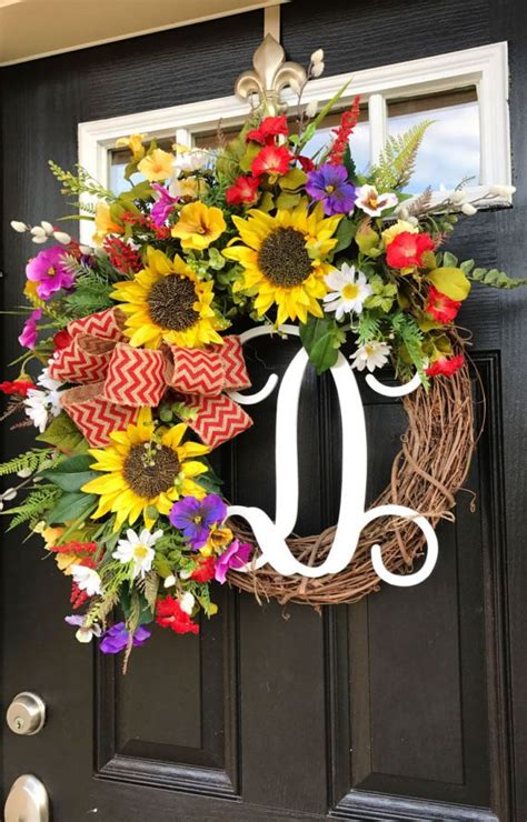 front door wreath ideas 25 best summer door wreaths ideas on diy