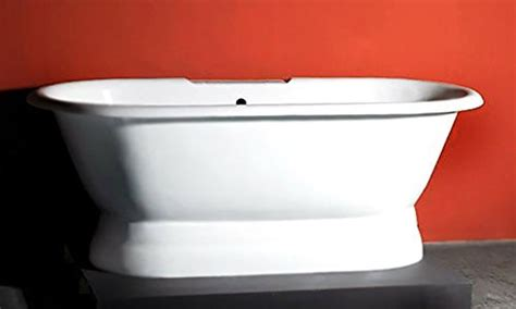 how much is a clawfoot bathtub worth 66 cast iron double ended pedestal tub with no faucet