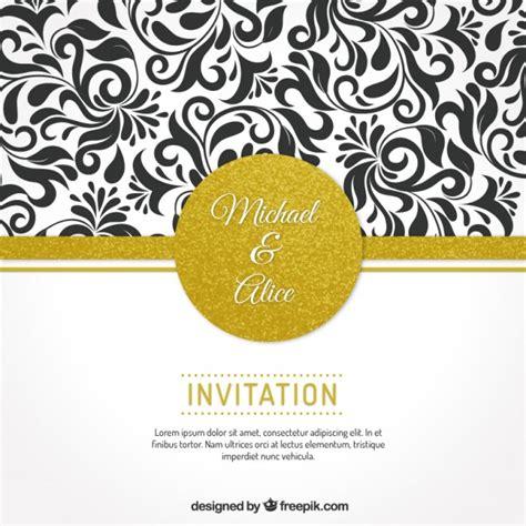 wedding invitation ornaments vector wedding invitation with floral ornaments vector premium