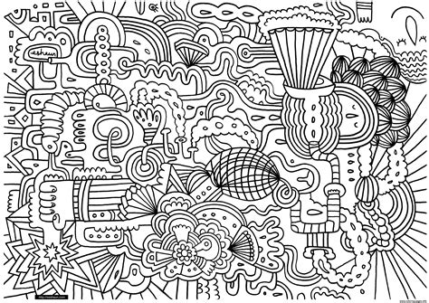 complex doodle drawing free complex coloring pages printable wdci0 printable