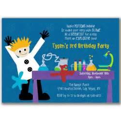 mad scientist invitation birthday ideas