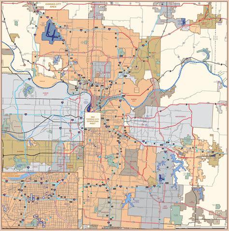 kansas city map usa kansas city road map