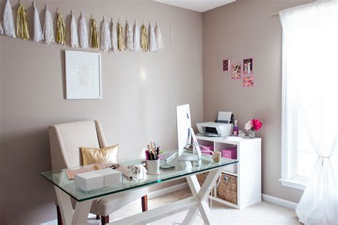 diy home office makeover sayeh pezeshki la brand logo bonnie bakhtiari s pink and chic home office office tour