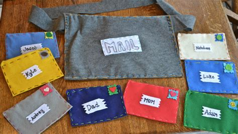 Handmade Gifts For Family - felt family mail kit gifts the happy