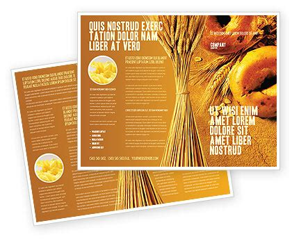 baking templates baking brochure template design and layout now