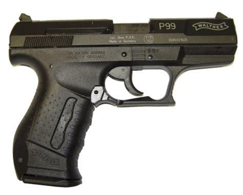 Moderne Deko 2554 by Freie Waffe Walther P 99 Gas Signalwaffe