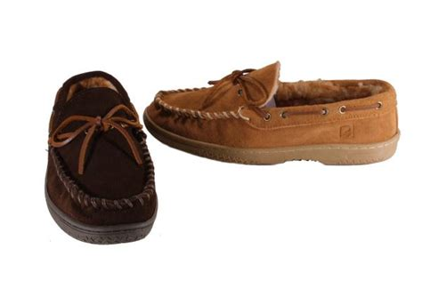 sperry house shoes sperry top sider moccasin suede casual slippers house shoes mens medium width ebay