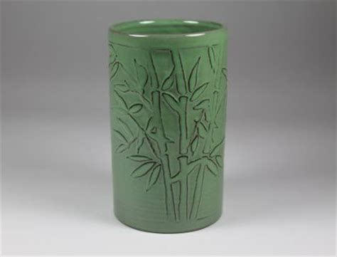 Bamboo In Water Vase by Bamboo Vase Lowell Hill Pottery