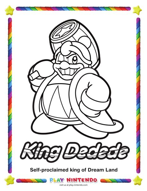 king dedede coloring page kirby coloring page 25th anniversary 3 my nintendo news