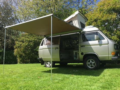 vw awnings vw t25 t3 vanagon arb 2500mm x 2500mm awning with cvc