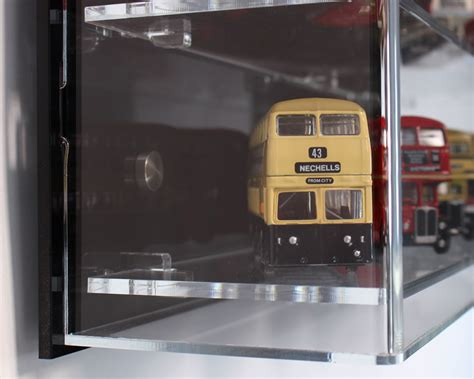 scale model display cabinet acrylic model wall display case for 1 76 model buses 3