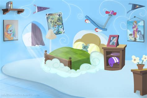 rainbow dash room scootalove deviantart gallery