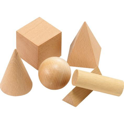 3d Wooden Shape wooden geometric solids didax education