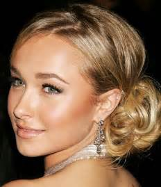 Hayden panettiere beautiful chignon hairstyle hairstyles weekly