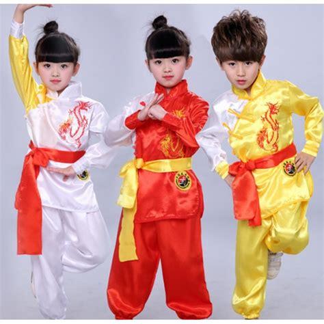 Kung Souvenir Dress Mano Yellow Orange children taekwondo dobok wushu costume kimono judo clothing kung fu suit chi