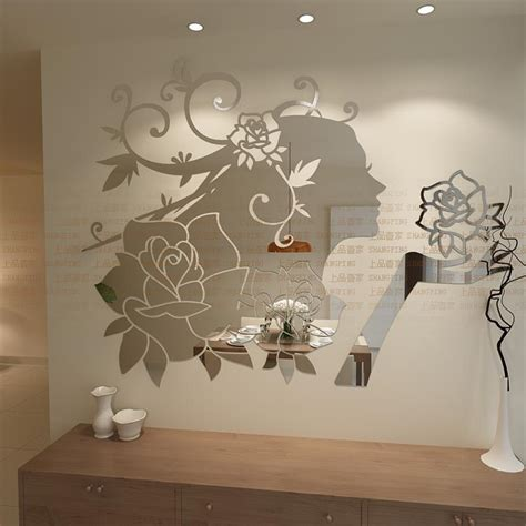 mirrored wall stickers get cheap flower aliexpress alibaba