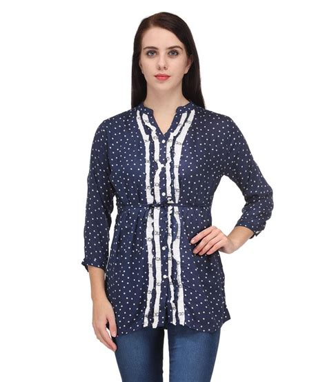 Tunik Rayon 1 bpt navy rayon tunics buy bpt navy rayon tunics at best prices in india on snapdeal