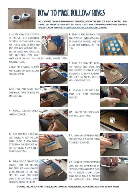 We Have Three Great Templates In Stock To Enable You To Make Hollow Rings This Shows How To Do How Do You Make A Template