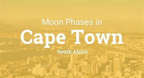 moon phases  lunar calendar  cape town south africa
