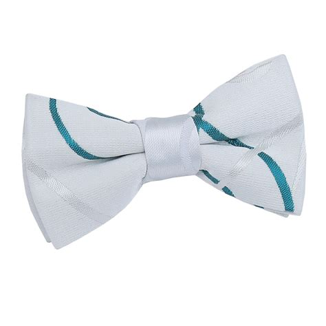 boy s scroll white teal bow tie