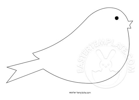 bird template shapes easter template