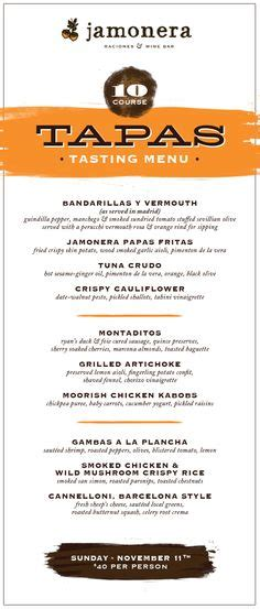 tapas menu template basque norte tapas menu menu design tapas