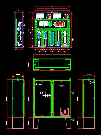 control panel dwg block  autocad designs cad