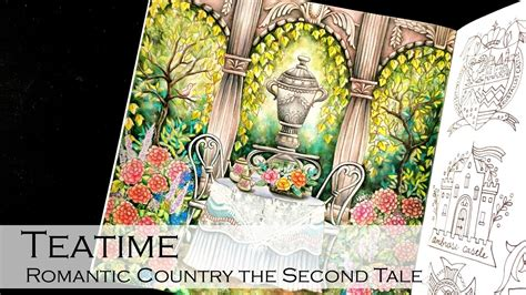 romantic country the second 1250117283 teatime coloring book romantic country the second tale shirley coloring youtube