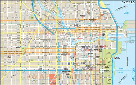 printable street map chicago chicago map pdf