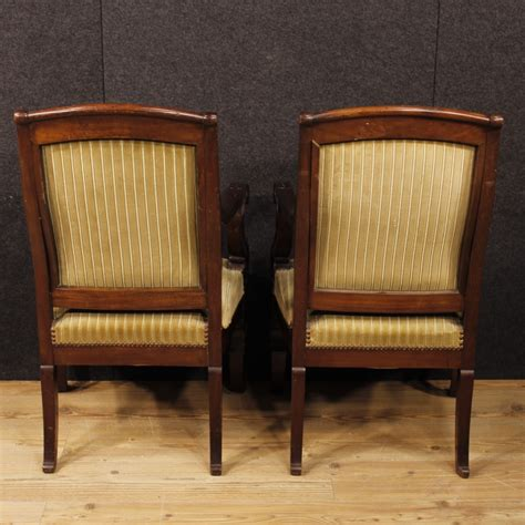 armchair in french french armchairs in mahogany 1870s for sale at pamono
