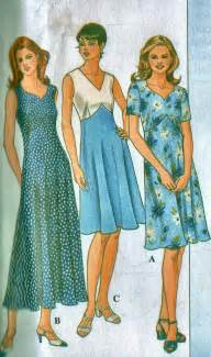 plus size women s spring or summer dress sewing pattern by