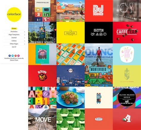 Griddr Animated Grid Creative Theme colorface is clean and responsive theme based on grid layout ajax and animated