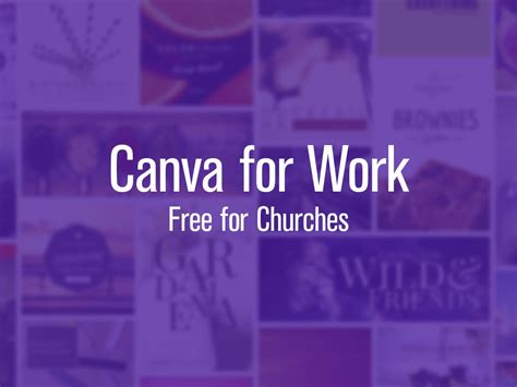 canva work canva for nonprofit graphic design software free for churches