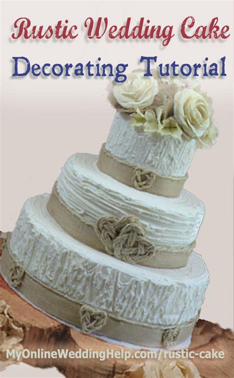 Diy On A Budget Home Decor Elegant Rustic Wedding Cake Tutorial No Decorating