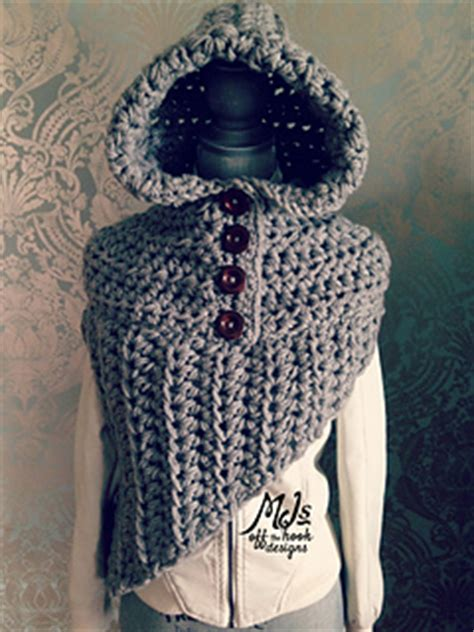 Gamis Cotton Bolero ravelry bulky hooded katniss cowl pattern by mj s the