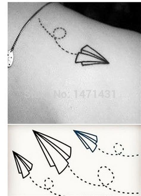 Lolitattoo Temporary Paper Plane the gallery for gt white paper airplane