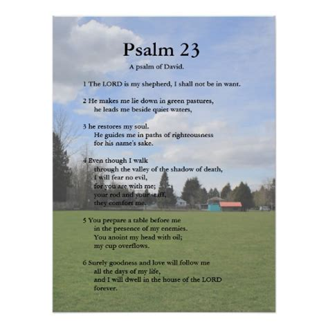 printable version 23rd psalm scripture template psalm 23 poster zazzle