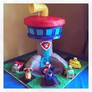 paw patrol look out tower cake cakecentral com