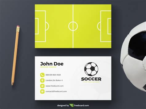 free sports themed business card templates soccer business card template freebcard