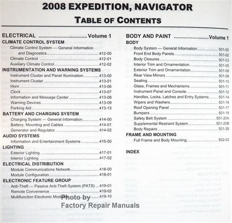 2008 ford expedition and lincoln navigator factory shop service manual set factory repair manuals