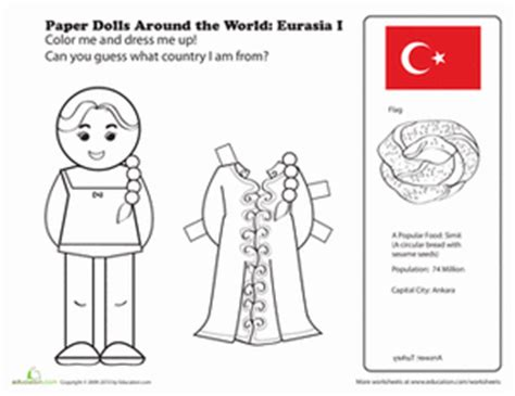 coloring pages dolls around world paper dolls around the world eurasia i coloring page
