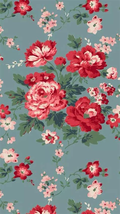 rose pattern screen lock blue grey red pink vintage floral flowers iphone